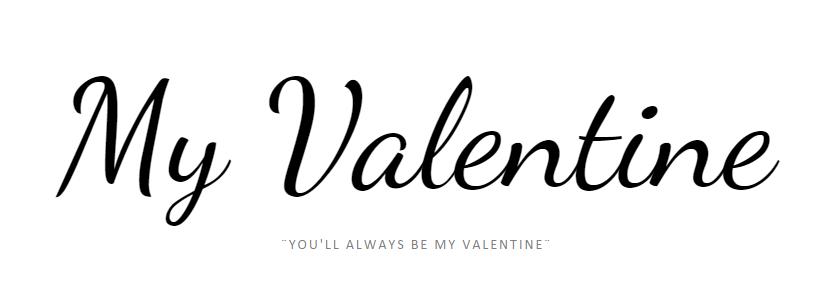 its my valentine