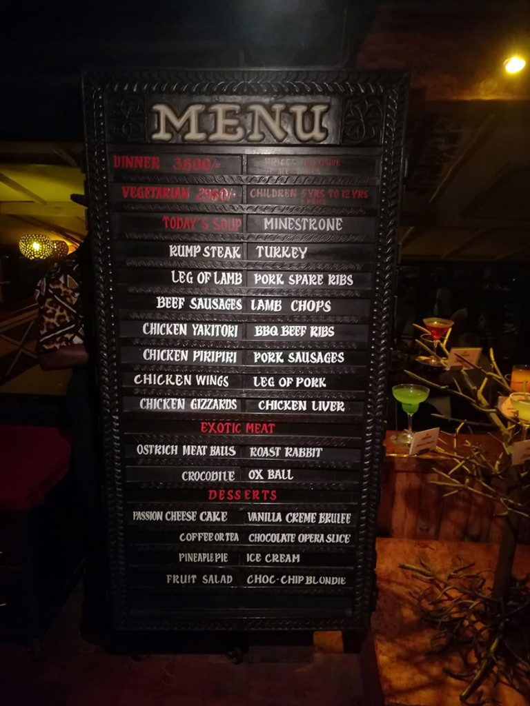 menu carnivore